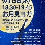 9月15日(木)関西最大級の外ヨガ「ロハスヨガ」番外編として泉ヶ丘にて「お月見ヨガ」を開催します。(堺/泉ヶ丘広場)